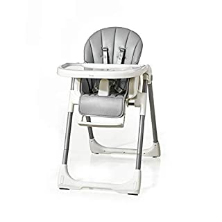 Kub Multifunctional Smart Baby Chair   3-in-1   Eat, Play & Rest   Baby, Toddler & Child   Adjustable Height, Tray, Backrest & Footrest   Easy to Clean   Foldable & Portable (Grey)
