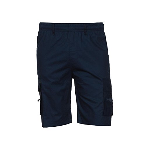 Elastic Waist Plaid Shorts - G&Kshop Men's Cargo Shorts Elastic Waist Casual Short Pants (3XL, Navy)