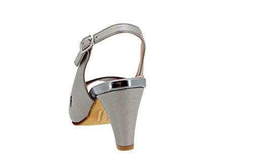 Calzado mujer confort de piel Piesanto 6279 sandalia fiesta zapato cómodo ancho Gris