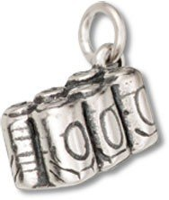 Sterling Silver Six Pack Soda or Beer Charm with Split Ring - Item #35518