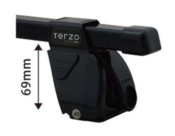 TERZO マツダ プレマシー H17.2~H22.6 CR3W.CREW 品番:EF-DRX/EB1/DR14 ベースキャリア 1台分セット B071X3WFP8