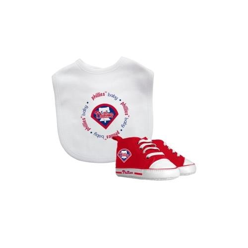 Baby Fanatic MLB Velcro-Closure Bib and High-Top Pre-Walker Set, Philadelphia Phillies (Phillies Bib Baby)