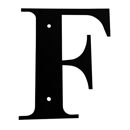 [Iron Address Letters House Letter F 12