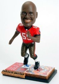 Tampa Bay Buccaneers Derrick Brooks Ticket Base Forever Collectibles Bobblehead - Licensed NFL Merchandise - Tampa Bay Buccaneers Collectibles