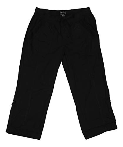 Performance Capri Pants - Calvin Klein Performance Womens Convertible Cargo Capri Pants Black M