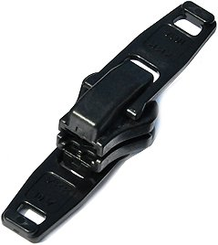 ZipperStop Wholesale Authorized Distributor YKK® Zipper Resucue Slider ~ YKK #10 Plastic Double Head Reversible Slider ~ Black (1 Slider / Pack) Plastic Distributor Head