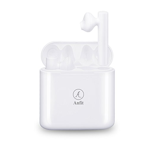 Anfit TWS Wireless Bluetooth 5.0 Earbuds, Double Earpieces,