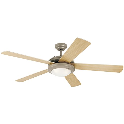 (Westinghouse Lighting 7813620 Comet 52-Inch Brushed Pewter Indoor Ceiling Fan, Light Kit with Frosted Glass)