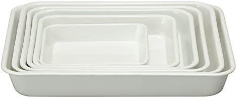 Plana de Horno (esmaltado (Bandeja de Cocina) Color Blanco/Import ...