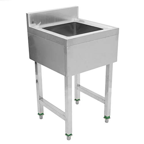 Series Underbar Sink - Stainless Steel Underbar hand Sink Single/Double Utility Wash Basin Compartment Bowl For Bathroom Kitchen (single)