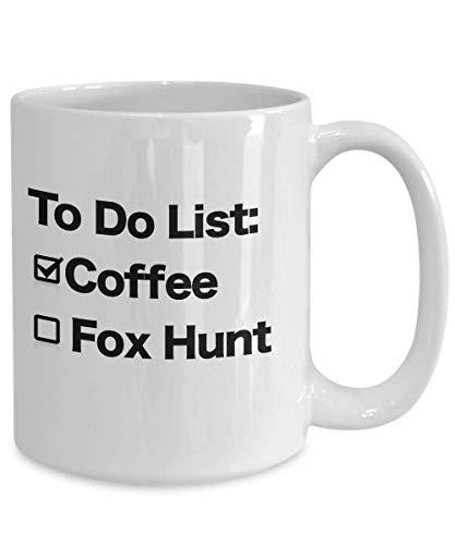 Fox Hunt Mug White Coffee Cup Funny Gift for Hunter on Horseback Calling Estate Hunt - Hounds Calling
