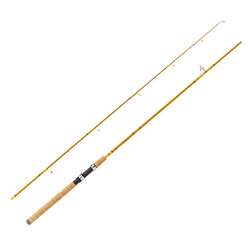 Cheap Eagle Claw Crafted Glass Spinning Rod, 8'6″ Length, Gold Glass, Medium