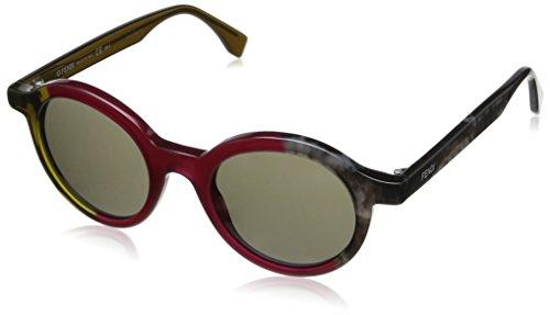 FENDI Sunglasses 0066S 0MXX Green Copper Gray 48MM