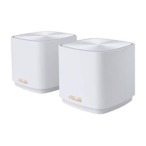 chollos oferta descuentos barato ASUS ZenWifi AX Mini XD4 Pack de 2 Sistemas de Red mallada Wi Fi 6 AX1800 Cubre hasta 446 m2 instalación Sencilla Funciones de Seguridad y Controles parentales Color Blanco