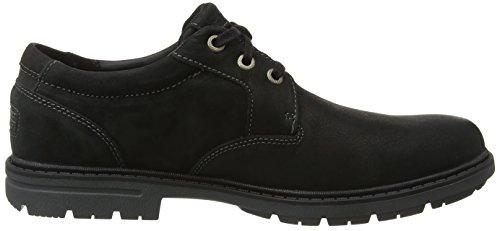 black Bucks Oxford Toe Tough 2 Scarpe Nero Stringate Rockport Uomo Plain IavSwvx