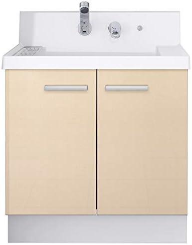 イナックス(INAX) 洗面化粧台 K1シリーズ 幅75cm 両開きタイプ シングルレバーシャワー水栓 K1N4-755SY/YL2H 一般地用 シカモアベージュ(YL2H)
