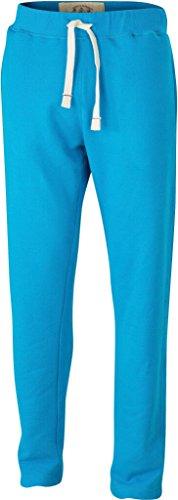 JAMES & NICHOLSON Pantaloni in felpa vintage (M, turquoise)