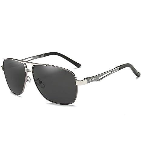 d012d1ad60 Amazon.com   Gray Aoron-Hd-Polarized-Sunglasses-Men S-Driving-Outdoor-Sports -Eyewear-Glasses-Uv400   Garden   Outdoor