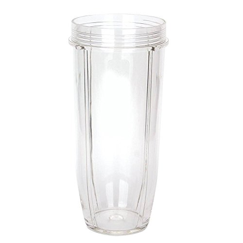 32oz Cup Replacement for Nutri Ninja Blenders – Large Blender Cups Compatible with Auto IQ and Duo Blenders (1, 32oz Cup)