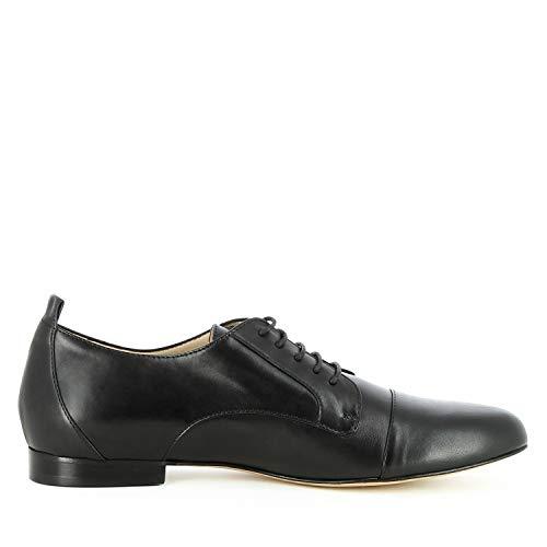 Escarpins À Femme Evita Noir Lacets Patty Lisse Shoes Cuir qExOT7t