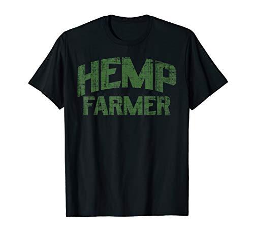 Hemp Farmer Funny Hemp Cannabis CBD Oil Dealer Grower Gift T-Shirt