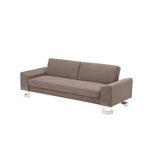 Corvus Gibson Sofa Bed with Push Down Back and Stainless Steel Legs
