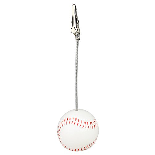 Baseball Memo Holder - 5Pcs Sport Game Ball Stand Alligator Wire Memo Photo Clip Holder,Table Place Card Holder,Sport Event Display,Wedding Party Favor Fusheng (Baseball Shape)