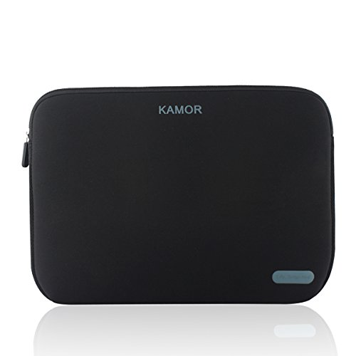 Kamor 16 17 17.3 inch Water-resistant Neoprene Laptop Sleeve Case Bag/Notebook Computer Case/Briefcase Carrying Bag/Skin Cover for Acer/Asus/Dell/Fujitsu/Lenovo/HP/Samsung/Sony/Toshiba(Black)