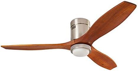 Stem IoT - Ventilador de techo (ahorro de energía, madera oscura con LED)