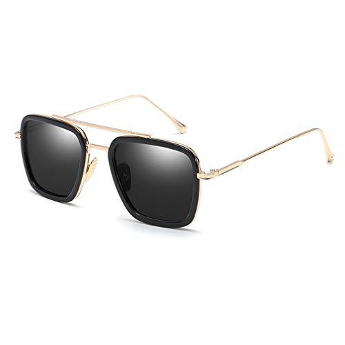 c7a49e170 Iron Man Tony Stark Sunglasses Retro Aviator Square Metal Frame for Men  Women