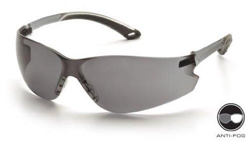 Pyramex S5820ST Itek Safety Glasses Gray Temples w/Gray Anti