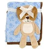 Babies R Us 3D Puppy Blanket - Blue - 30 x 40