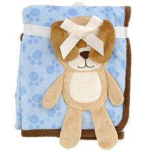Puppies Fleece Blanket (Babies R Us 3D Puppy Blanket - Blue - 30 x 40)