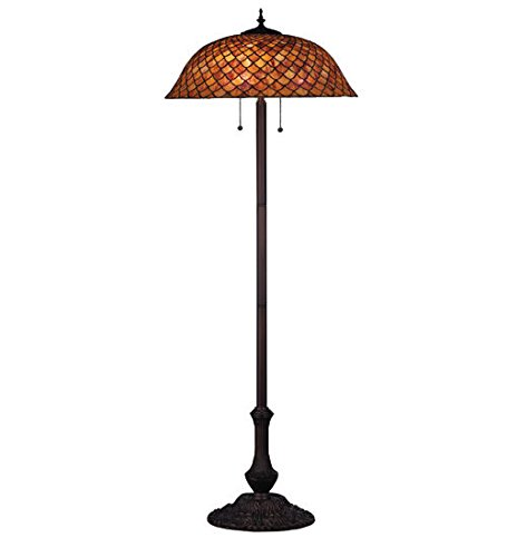 Tiffany Style Stained Glass Fishscale Light Floor -