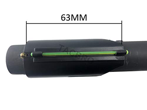 TACBRO Universal Mossberg Remington 12GA / 20GA Green Shotgun Fiber Optic Front ()