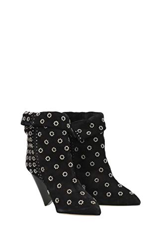 Ankle Boots Marant BO014217H005S lakky Isabel Suede Black Women UK 6v5dwqEqn