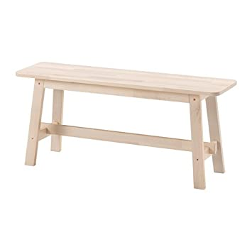 Ikea Norraker Bench, White Birch 1826.231711.182