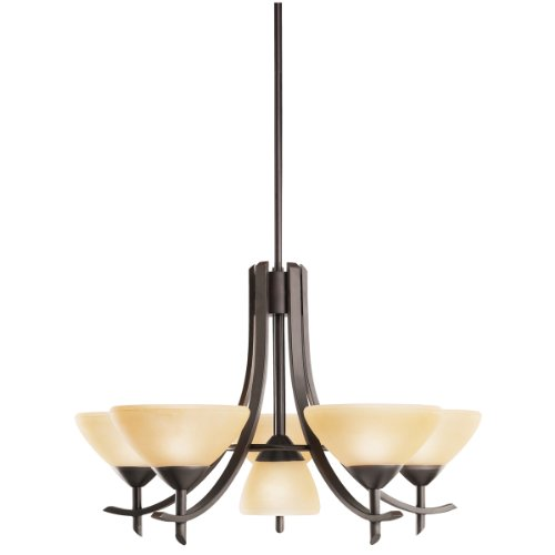 Kichler Lighting 1676OZ 5 with 1-Turn up Olympia Incandescent Chandelier, Old Bronze
