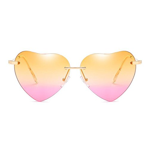 LOMOL 2017 New Womens Personality Cute heart-shaped UV Protect - The How Sunglasses To Right Pick