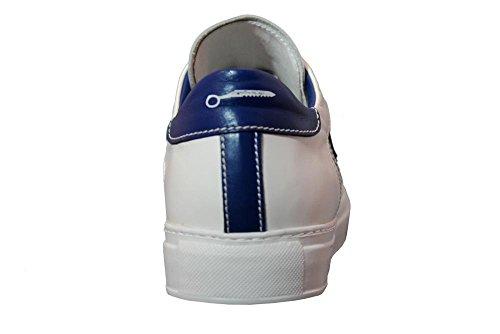 STAU Sneakers Gold 713 Nappa Bianca Inserti Bianco/Blu