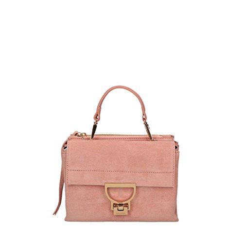 COCCINELLE ARLETTIS SUEDE handbag rose