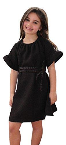 A. Bird Big Girls Bess Ruffle Sleeve Bell Dress Size: 10 Brown