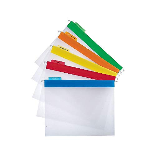 - Staples 516608 Poly Hanging File Folders Letter Size Clear With Assorted Tabs 25/Bx