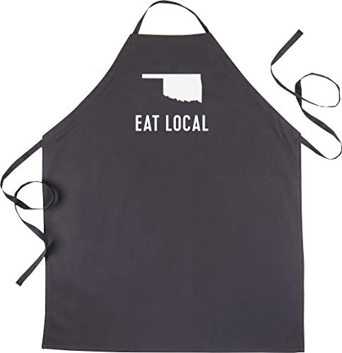 Oklahoma State Apron - About Face Designs State of Mine-Oklahoma Apron Black
