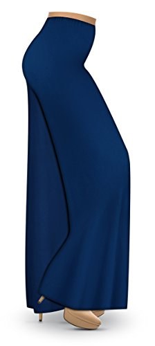 Navy Blue Slinky Wide Leg Plus Size Supersize Palazzo Pants 4x
