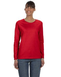 Gildan Womens Heavy Cotton Missy Fit Long-Sleeve T-Shirt G540L -RED XL