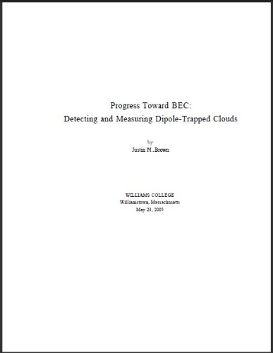Progress Toward BEC Detecting and Measuring Dipole-Trapped Clouds pdf
