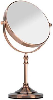 LGQ-LIFE 6月8日インチ自立化粧鏡3倍ズームはバニティミラー、ブロンズを両面 (Size : 7.9*13.8in)