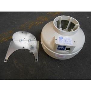 Fantech FR 125 Inline Centrifugal Duct Fan, Molded Housing, 5