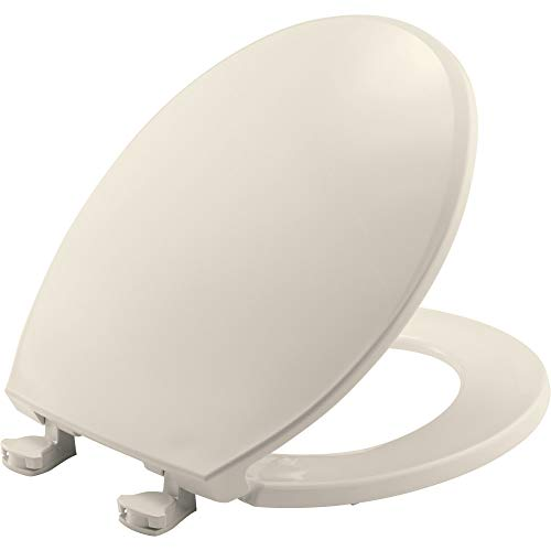 (CHURCH 3EC 346 Toilet Seat with Easy Clean & Change Hinges, ROUND, Plastic, White)